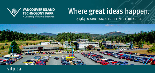 Vancouver Island Tech Park Building and Parking Lot